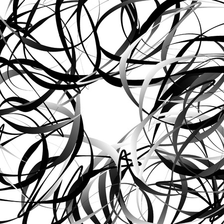 intersecting: Intersecting random squiggly, curvy lines. Abstract geometric illustration. Illustration
