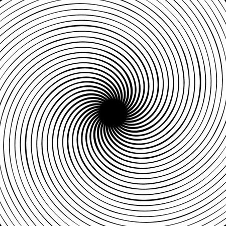 curl whirlpool: Abstract spiral element. Concentric, radial, radiating lines. Abstract rotating geometric element.