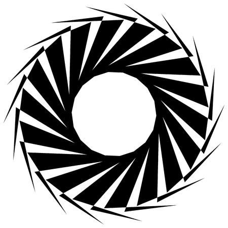 forme geometrique: forme géométrique circulaire. Résumé élément monochrome en spirale. Illustration