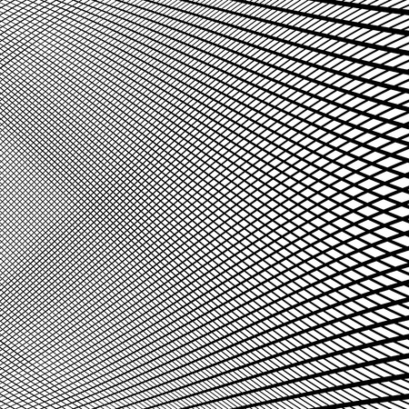 reticular: Dynamic lines grid. Monochrome geometric pattern, abstract texture