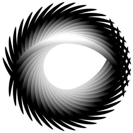 camber: Dynamic irregular lines forming a circle element. Geometric shape made of bent lines