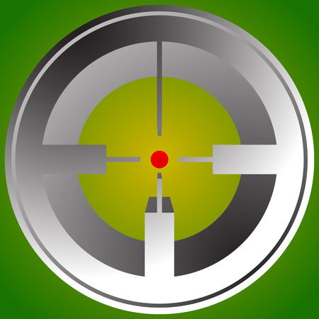 hindsight: Target mark, reticle, crosshair icon for focus, accuracy, targeting concepts. Illustration