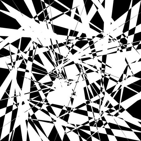 tense: Edgy geometric element, random shape. Abstract monochrome illustration.