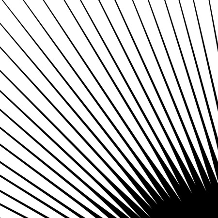 spokes: Spikes spreading from a central point. Geometric illustration. Spokes, radial lines element.