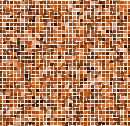 Mosaic with irregular tiles and different shades. Tessellating revetment background, pattern. Illustration
