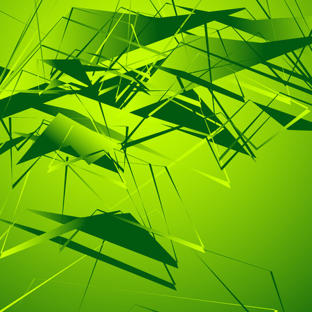 Edgy monochrome illustration with geometric shapes. Abstract geometric art. Illustration