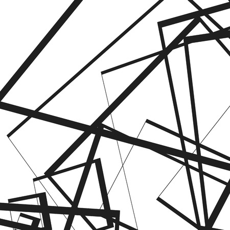 intersecting: Geometric illustration(s) with random, edgy, irregular lines. Dynamic intersecting lines.
