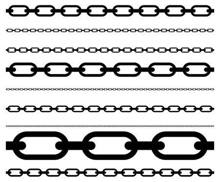 chainlink: Simple flat chain link, chain illustration. Silhouette of a chain.