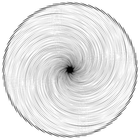 Abstract spiral element. Concentric, radial, radiating lines. Abstract rotating geometric element.