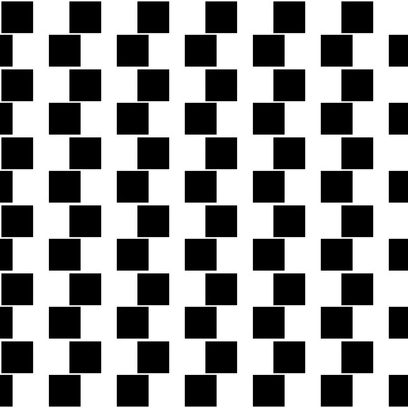illusory: Illusory monochrome background with mosaic of squares. Seamlessly repeatable black and white pattern. Illustration