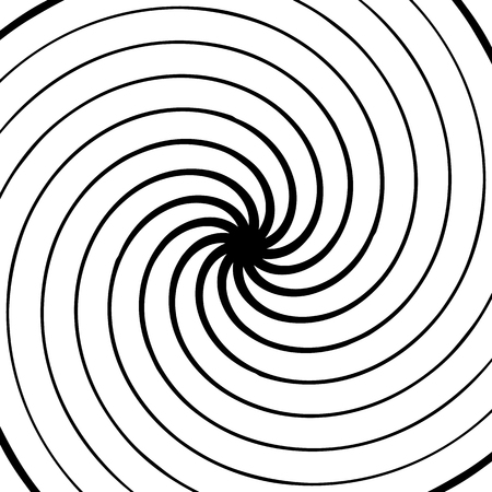 circling: Abstract spiral element. Concentric, radial, radiating lines. Abstract rotating geometric element.