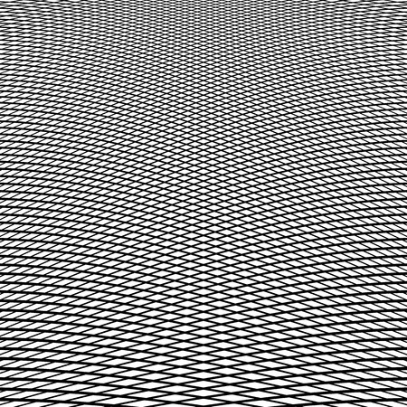 Dynamic lines grid. Monochrome geometric pattern, abstract texture