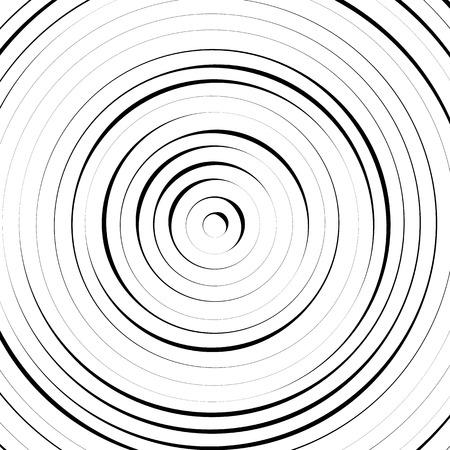 círculos concéntricos radiales con líneas irregulares y dinámicas. Modelo abstracto con efecto de rotación, espiral.