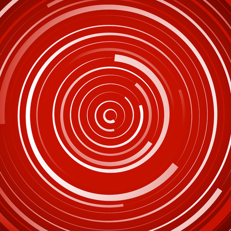 Colored spiral pattern. Concentric circles with irregular, dynamic lines. Illustration