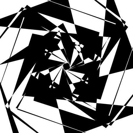 Edgy geometric element, random shape. Abstract monochrome illustration. Vector Illustration