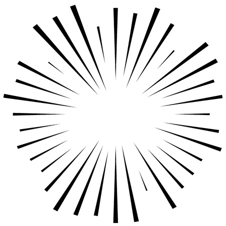 abstractionism: Abstract illustration of a circular pattern with radial, radiating lines. Illustration