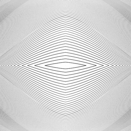 moire: Repeatable geometric pattern with distorted irregular dynamic lines. Illustration