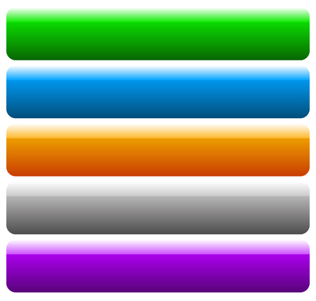 blank banner: Set of banner, button background. Horizontal rectangular buttons with empty space for your message. Tags, labels. Illustration