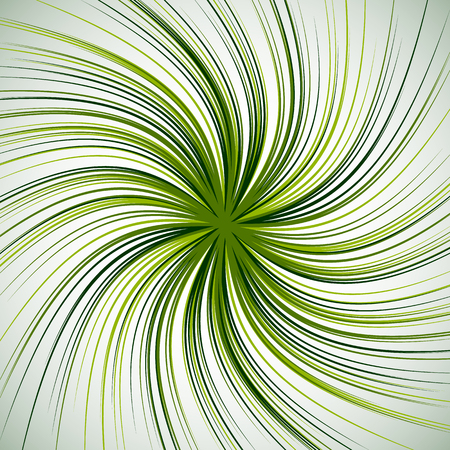 eddy: Spiral background with thin radial lines. Concentric, circular swirl, twirl pattern. Sunburst with rotation. Monochrome abstract illustration.