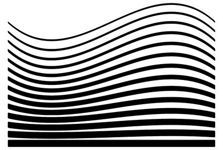 Satz von Linien mit unterschiedlichen Grad der Verformung. Zusammenfassung geometrische Darstellung.