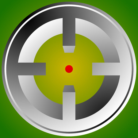 targeting: Target mark, reticle, crosshair icon for focus, accuracy, targeting concepts. Illustration