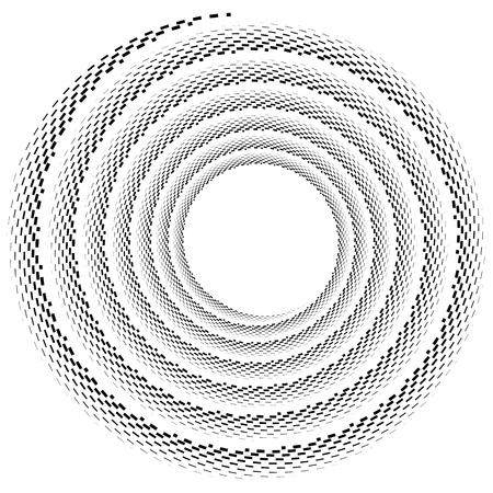 eddy: Volute, helix element made of lines. Logarithmic spiral. Illustration