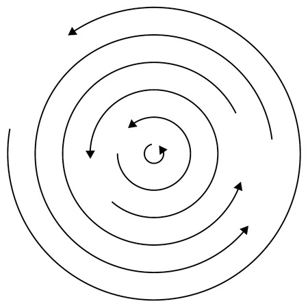 Circular arrows - Random concentric circles with arrows for twist, rotation, centrifuge, cycle concepts.