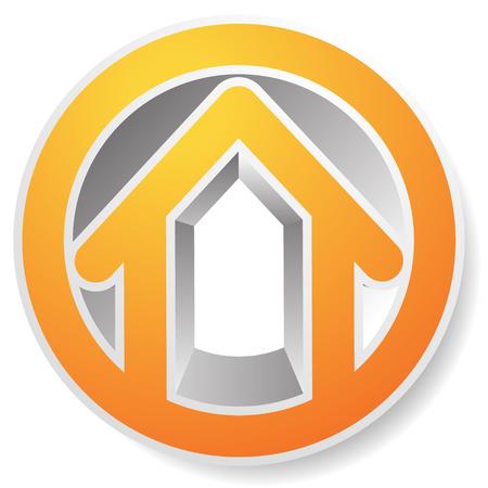 contour: Contour house  building symbol, icon or logo