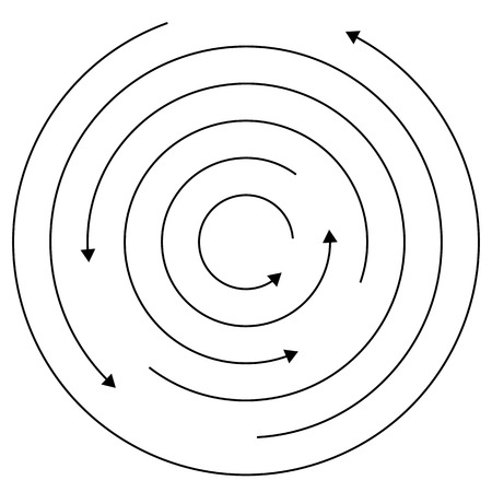 centrifuge: Circular arrows - Random concentric circles with arrows for twist, rotation, centrifuge, cycle concepts.