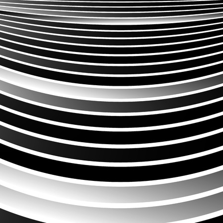wriggle: Distorted, warped lines geometric monochrome pattern. Black and white distorted shapes