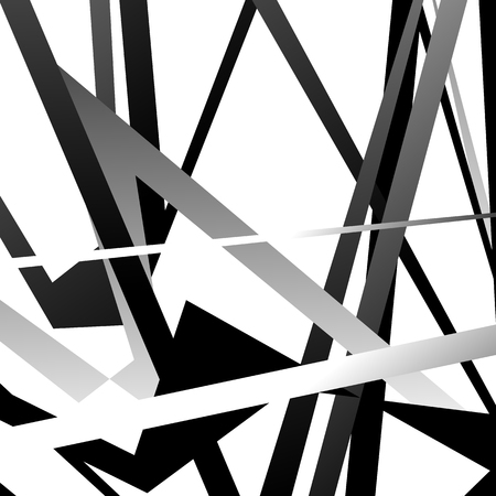 Abstract geometric black and white pattern, texture with overlapping shapes