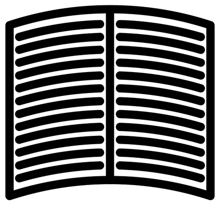 prepress: Simple icon, symbol for magazine, book, publishing, writing concepts. Open book symbol Illustration
