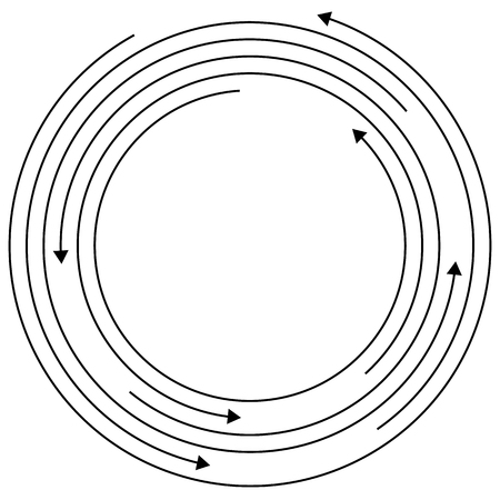 arow: Circular arrows - Random concentric circles with arrows for twist, rotation, centrifuge, cycle concepts.