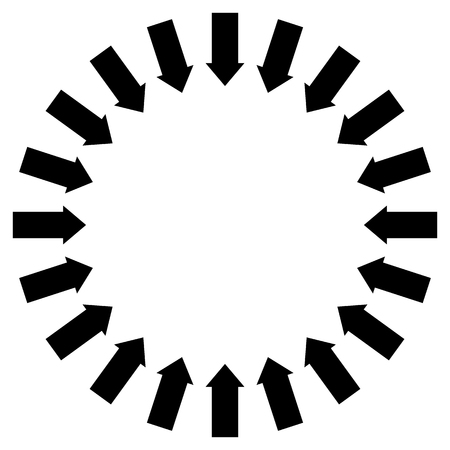 following: Group of arrows following a circle pointing inwards Illustration