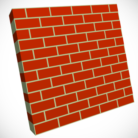 Wall in perspective. Brickwall for construction, building or obstacle related themes Illustration