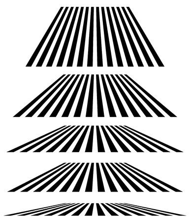 Lines in different level of perspective. 3d stripes, lines elements Vektoros illusztráció