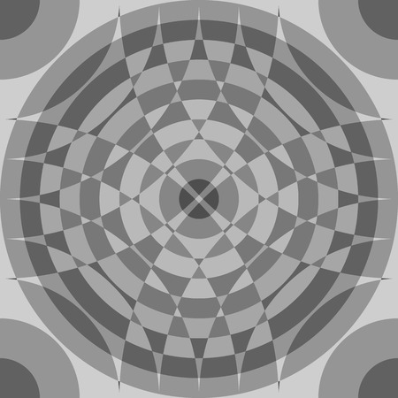 Repeatable segmented grayscale pattern. Monochrome abstract textured surface