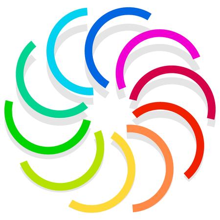 whirlpool: Colorful spirally design element, abstract geometric motif, symbol, Illustration