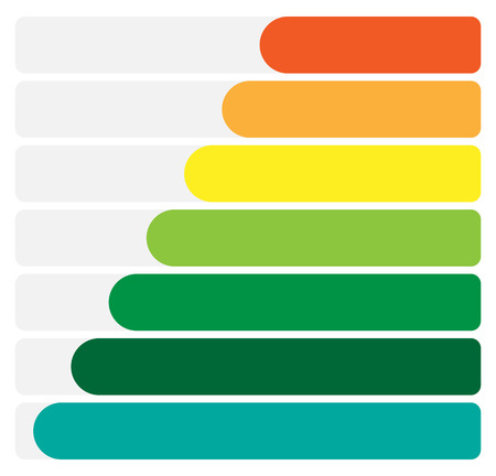 Horizontal rectangles, bars infochart, presentation or banner templates Illustration