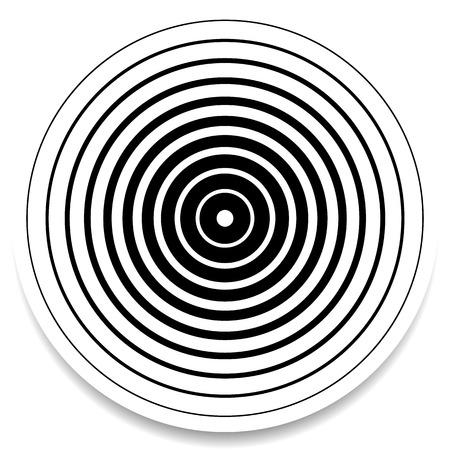 circulos concentricos: c�rculos conc�ntricos, anillos elemento geom�trico abstracto. Ondulaci�n, efecto de impacto