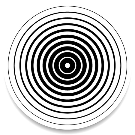 abstrakcja: Koncentryczne okręgi, pierścienie abstrakcyjny element geometryczne. Falowanie, efekt oddziaływania