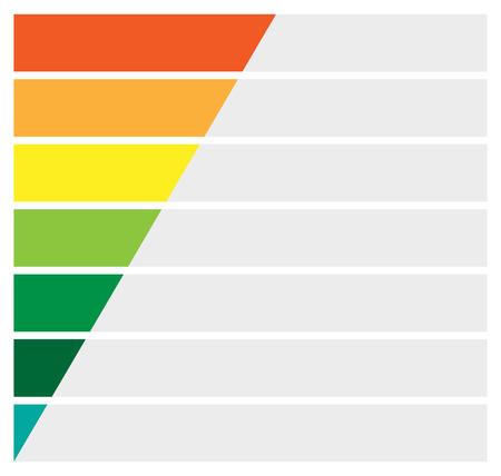 infochart: Horizontal rectangles, bars infochart, presentation or banner templates Illustration