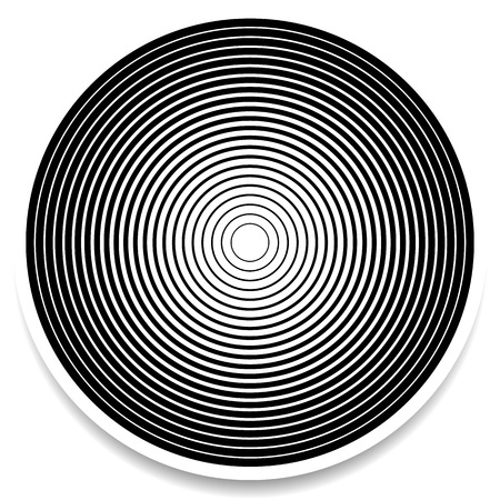 impact: Concentric circles, rings abstract geometric element. Ripple, impact effect