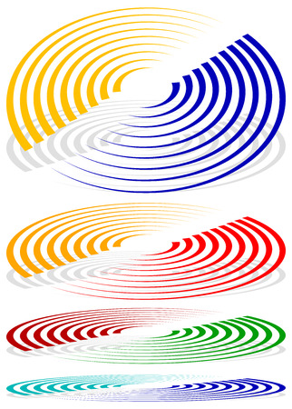 epicentre: Concentric circles, signal, spiral shapes. More colors included.