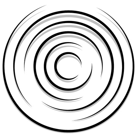 circling: Concentric random circles with dynamic lines. Circular spiral, swirl element