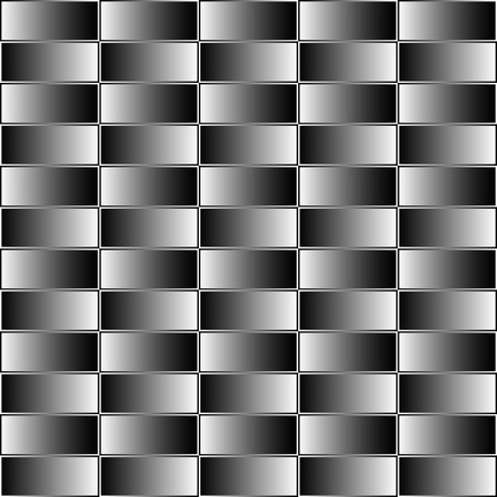 grayscale: Rectangles with grayscale, contrasty gradient fill. Seamless pattern