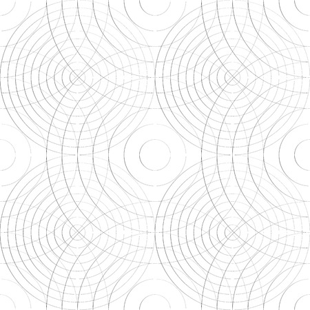 grillage: Cellular pattern with thin lines of circles. (Repeatable subtle texture) Illustration