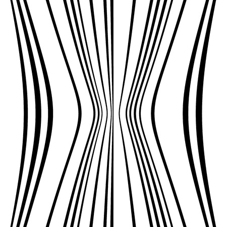 Geometric lines pattern with distortion. abstract non-figural illustration