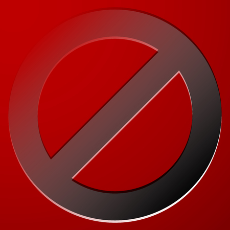 no entrance: Red prohibition, restriction sign - Rejection, closed, no entrance, stop sign, icon