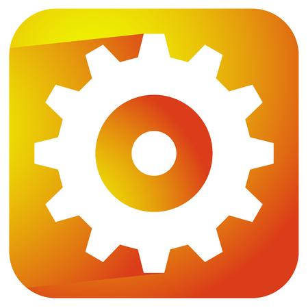 rackwheel: Gearwheel, rack wheel, gear icon, sign. Service, development, manufacturing, settings concepts.